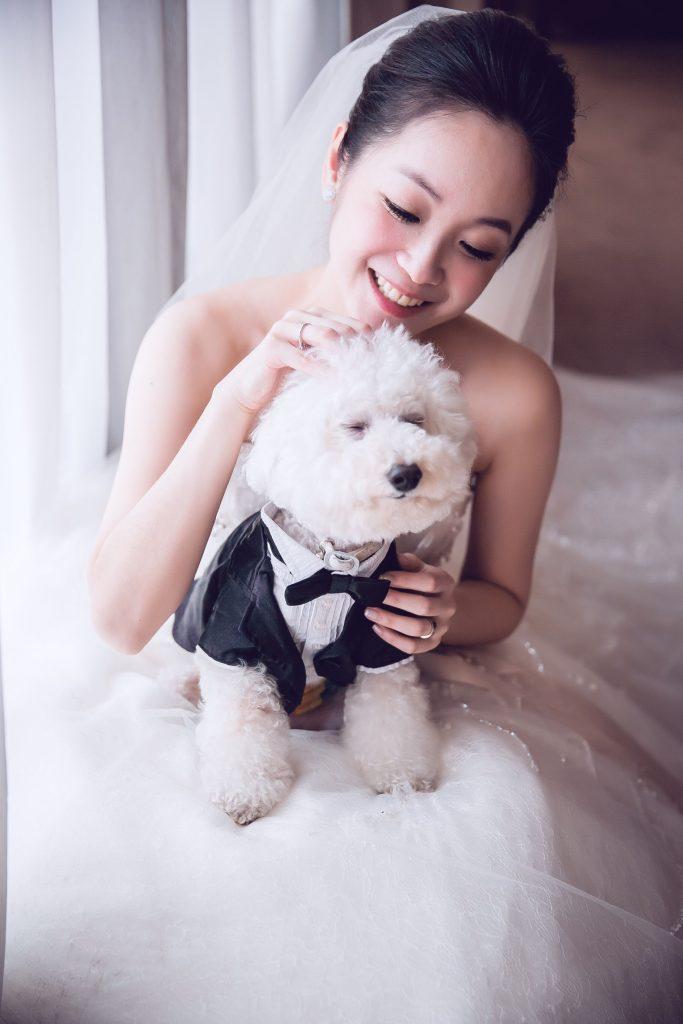 新娘與愛犬
